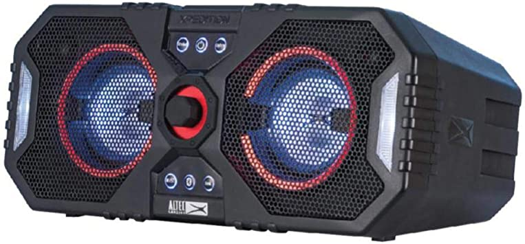 "Altec Lansing ALP-XP8 Xpedition 8 Waterproof Portable Bluetooth Speaker,  Dual 8"" Woofers 28 Hours Playtime 8W Wireless IP8 Durable Speaker, Black"