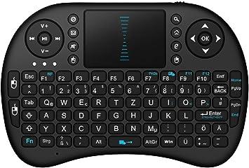 BlueBeach® 2.4GHz Inalámbrico Ratón Aéreo Teclado + TouchPad Mando Control Remoto Smart TV / Android TV Box / PC / HTPC / IPTV / Media Player / Xbox 360 / PS3: Amazon.es: Electrónica