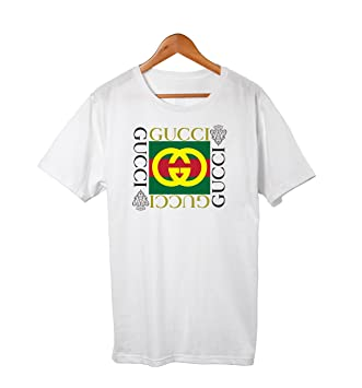 Gucci Vintage Design Front Square Logo T Shirt Tee White by Unknown