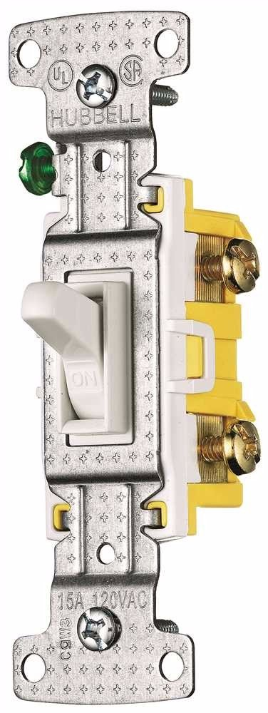 HUBBELL WIRING GIDS-606139 RS115SW Electrical Switch White