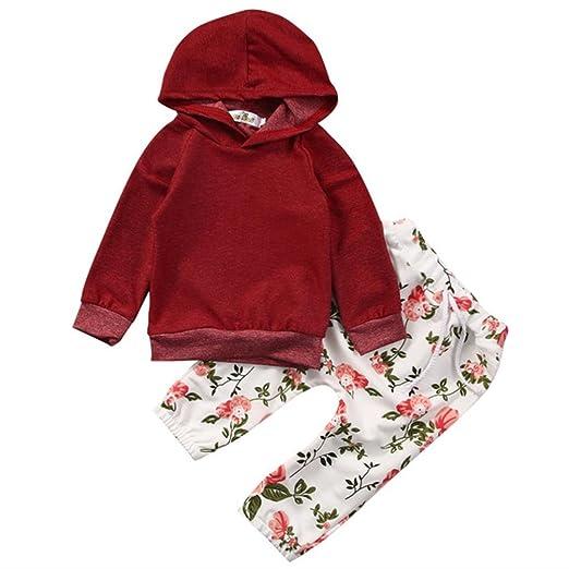 361989ea8 Amazon.com  Staron 2pcs Set Newborn Infant Baby Boy Floral Hoodie ...