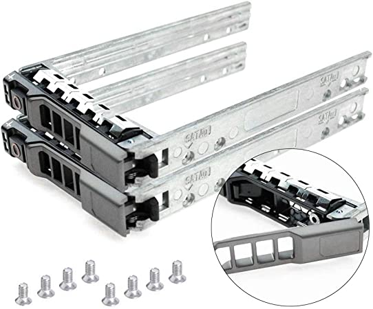 R320 R420 T420 T620 R620 R720 R720XD R820 R920 G176J 0G176J {2pcs Pack}2.5 Hard Drive Caddy Tray Compatible for Dell PowerEdge Servers