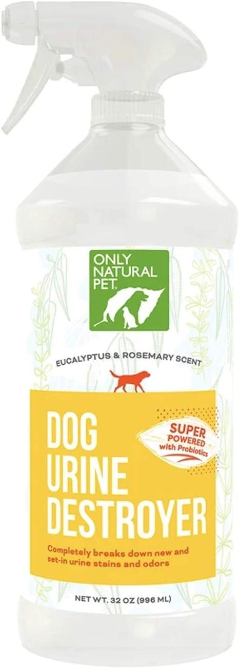 Spray Probiótico Para Perros Only Natural Pet Para Orina De Perros Limpiador De Enzimas Totalmente Natural Removedor De Manchas De Mascotas Y Eliminador De Olores 32 Onzas Mascotas