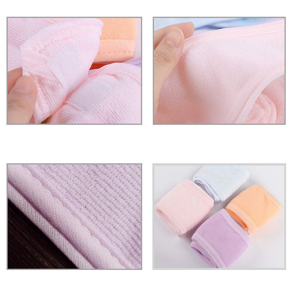 Sport 4 Pack Spa Bandeau pour Le Maquillage du Visage Serviette Bandeau Cheveux Yoga Wrap Lavable Terry Bandeau avec Bande pour Le Bain Le Traitement