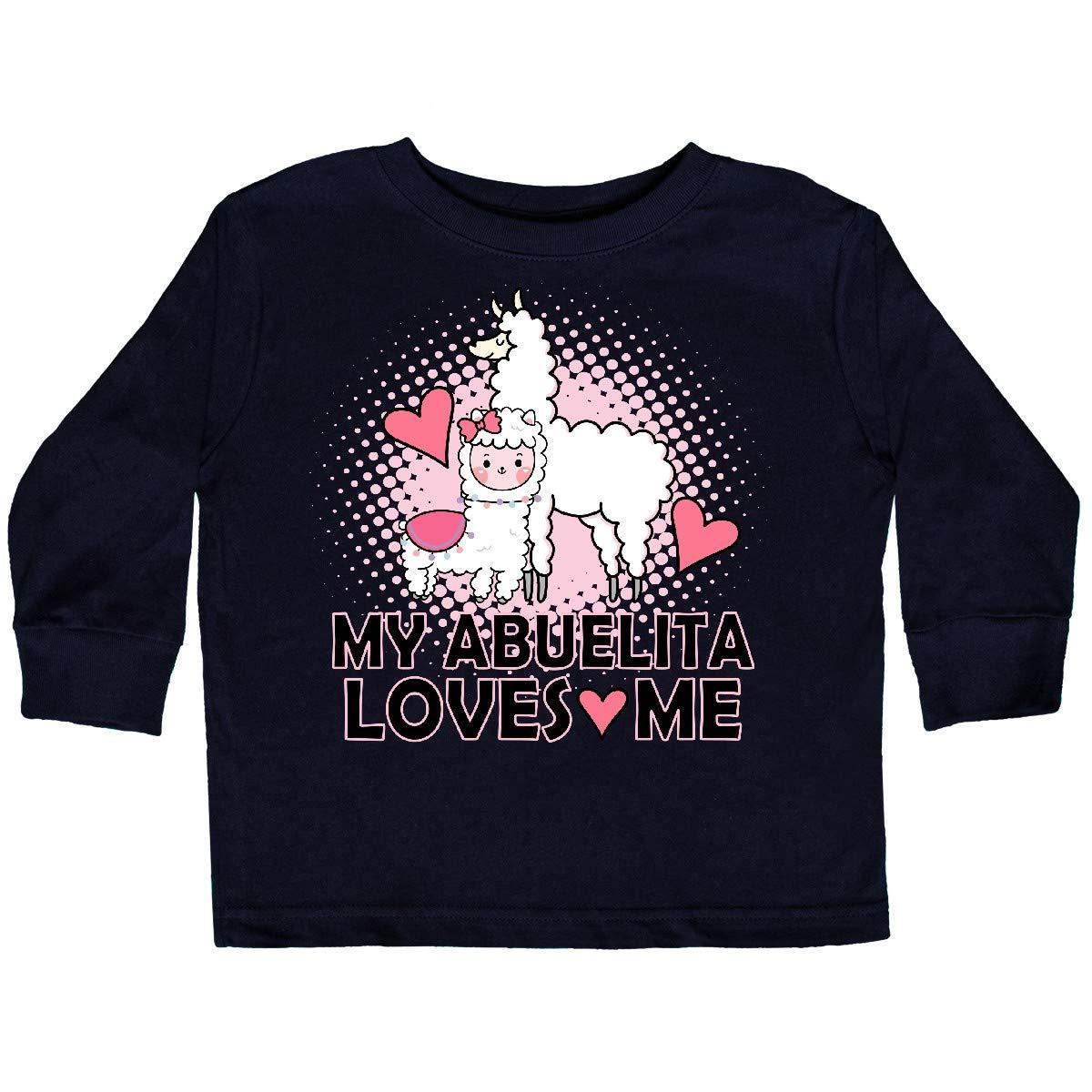 inktastic My Abuelita Loves Me Baby Llama Toddler Long Sleeve T-Shirt