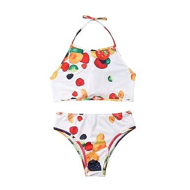 Traje de ba/ño Top con Estampado de Frutas Hija Volante Mom-baby.store Mam/á y yo Volantes Traje de ba/ño Madre Bikini a Juego