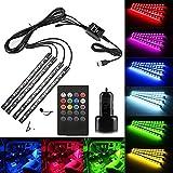 Saimly 4-Piece Multicolor USB LED Interior Underdash Lighting Kit With 20 Keys Wireless Remote Control