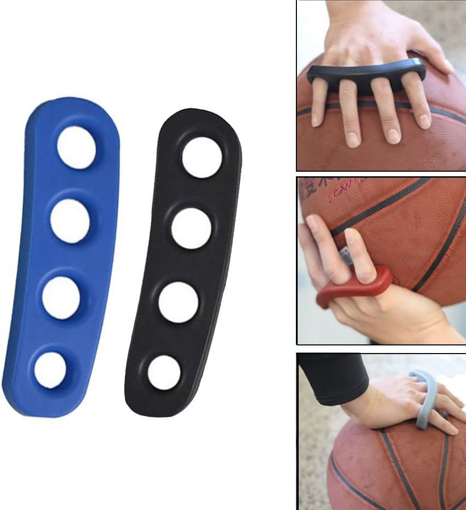 EMPHY 2Pcs Basketball Shooting Trainer Training Aid for Youth Silicone Shot Lock Hand Palm Orthotics Blue//Black