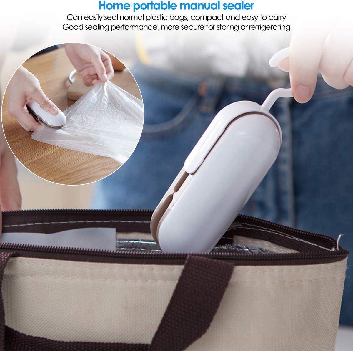 Ruiqas Mini Sac Scellant 2 en 1 Coupe-Sac Portable C pour Le Stockage des Aliments en Plastique