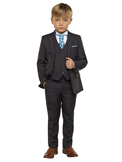 Paisley of London Boys Dark Grey Suit, Page boy Suits, Boys Wedding ...