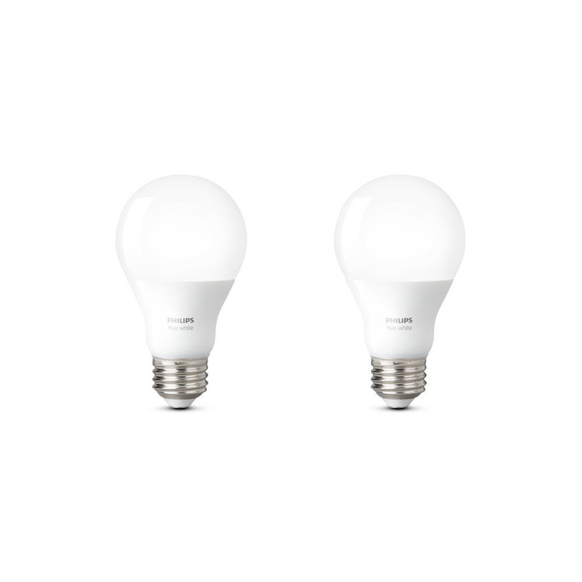 philips hue white a19 2 pack 60w equivalent dimmable led smart bulb compatible with amazon. Black Bedroom Furniture Sets. Home Design Ideas