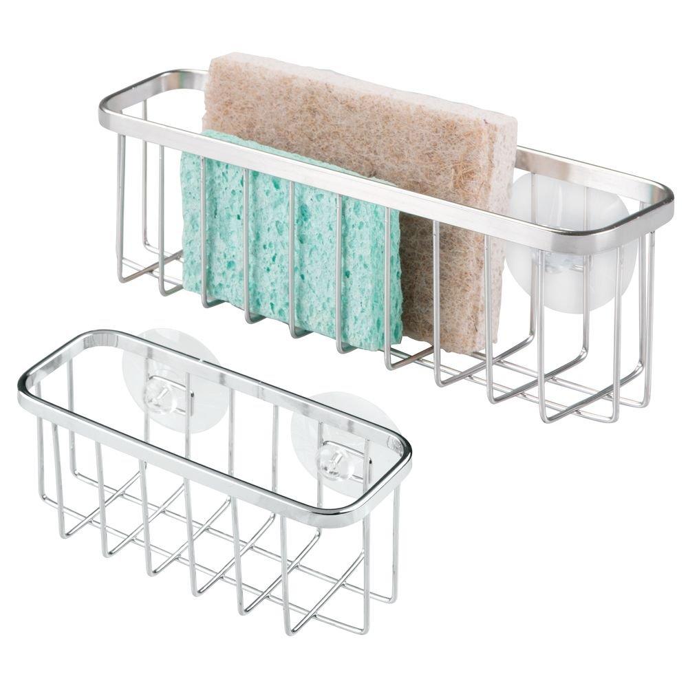 Amazon.com: InterDesign Gia Suction Kitchen Sink Caddy, Extra Large ...