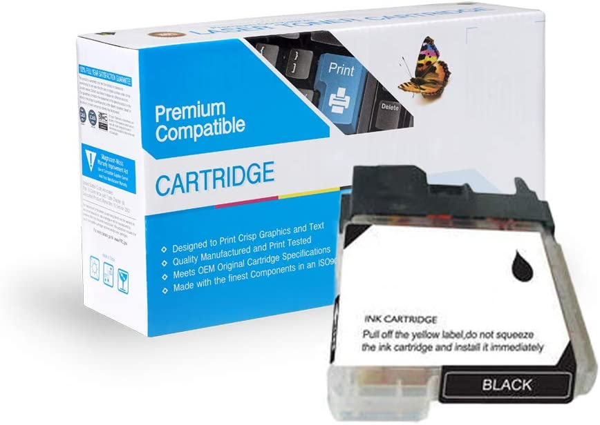 5490CN Works with: DCP 165C; MFC 290C 490CW Black InkSurf Compatible Ink Cartridge Replacement for Brother LC61BK 790CW 6490CW 5890CN