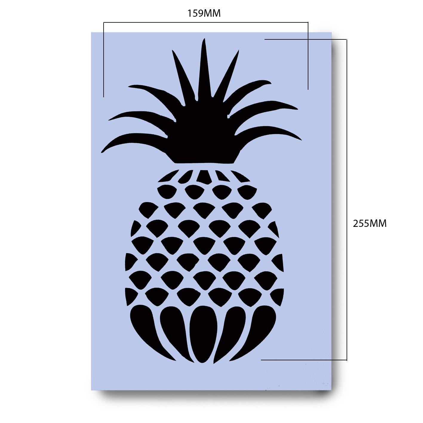 Plantilla Pi/ña 297 x 189 mm Pineapple Stencil A4