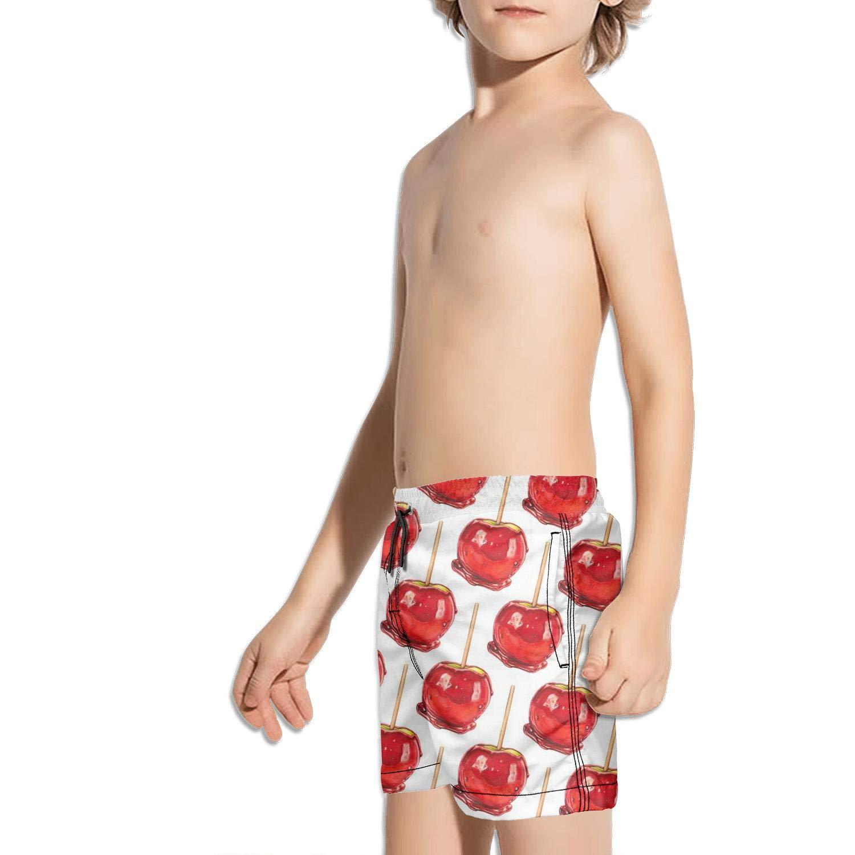 Etstk Apple red Kids Lightweight Shorts for Men