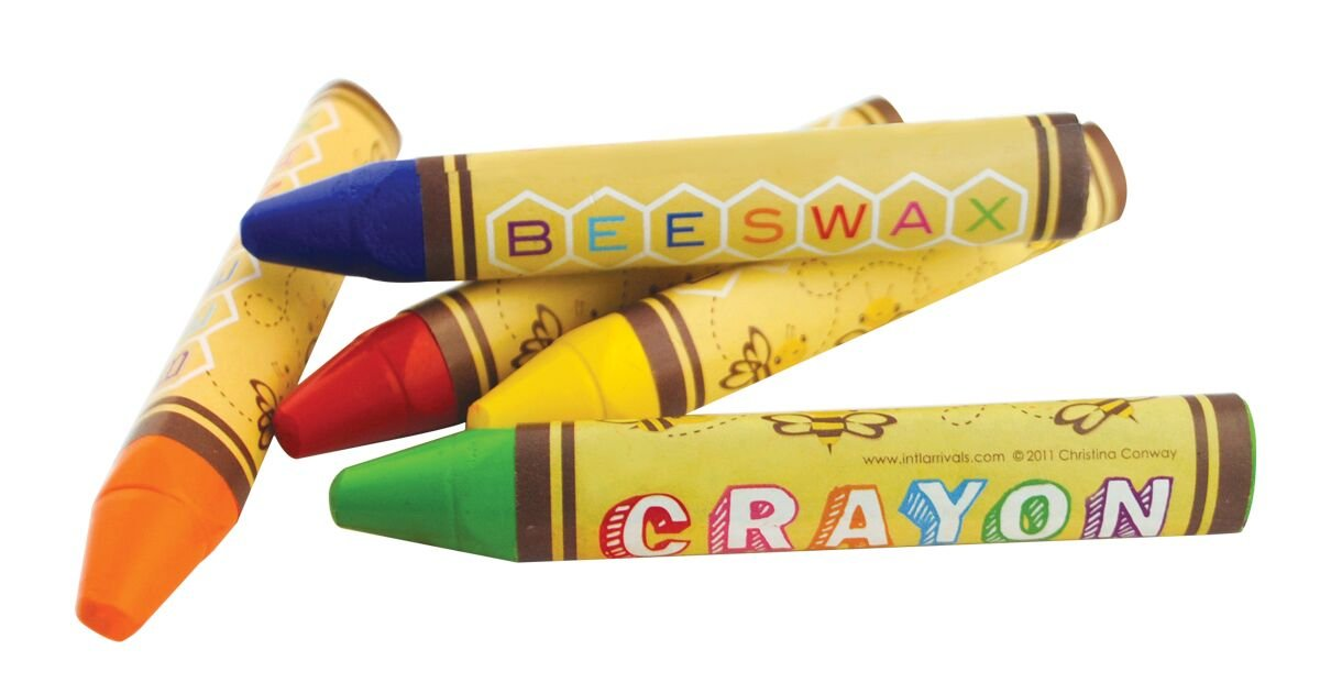 International Arrivals is newly OOLY Natural Beeswax Crayons, Set of 24 (133-50)