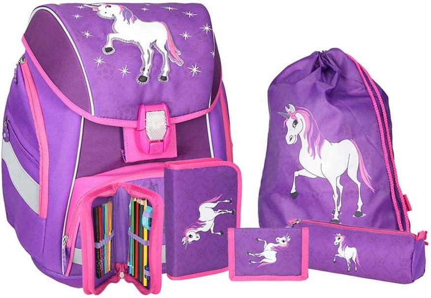 SPIRIT Schulranzen Set Pro Light Unicorn//Einhorn