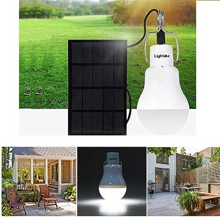 CRD PRODUCTS 1.5W 130LM Solar Powered Energy Lamp LED Bulb Light Portable LED Lighting Solar Panel Camp Night Travel Nightlight