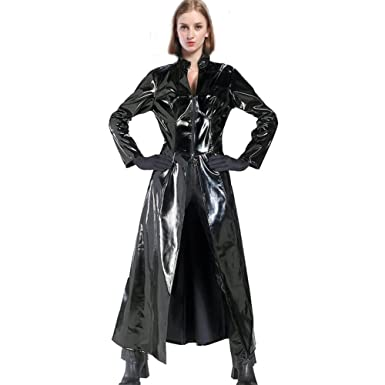Cosplay Trinity Tenue Pvc Cuir Costume Femmes Trench Coat Valuepack B5wdq44