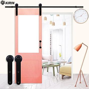 KIRIN - Juego de herramientas para puerta corredera de madera de 2 ...
