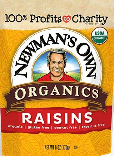 Raisins Organic California (Newman's Own Organics California Raisins, 6-Ounce Pouches (Pack of 12))