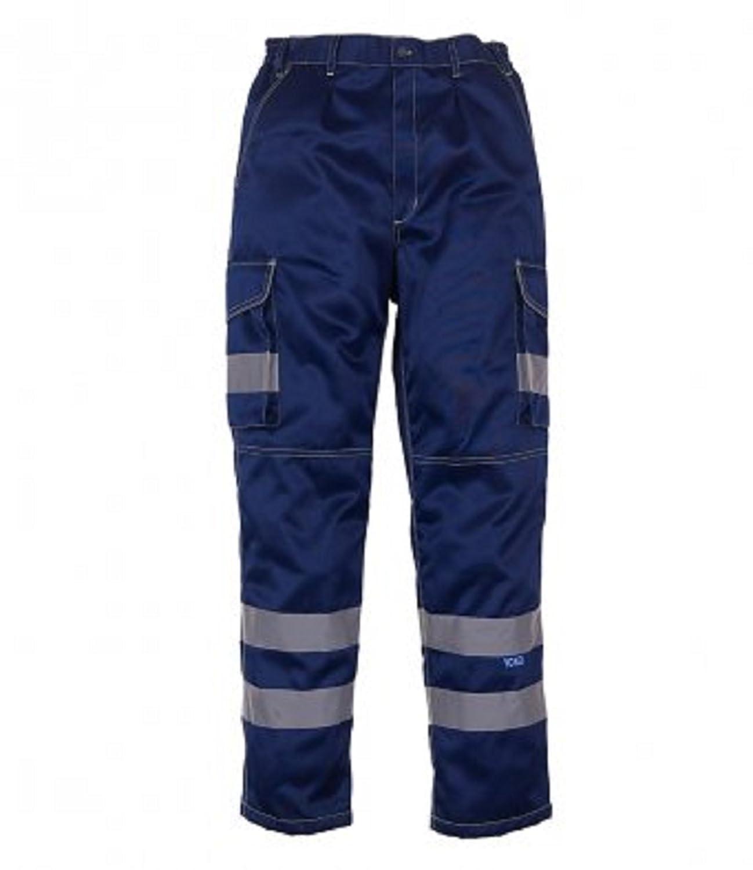 absab ltd Yoko Men's Hi-Vis Polycotton Cargo Trousers with Knee Pad Pockets New