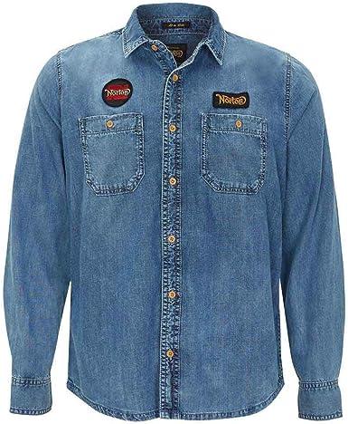 Norton Owens Shirt Denim-L: Amazon.es: Ropa y accesorios