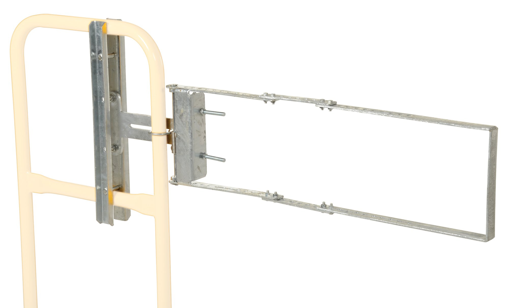 Vestil SPG-40-G Self-Closing Steel Gate with Galvanized Coat Finish, 24'' - 40'' Opening Width, 12'' Height