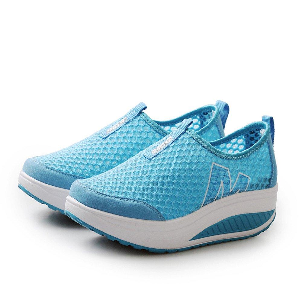 Sonnena Femmes Bottes Chaussures Femmes Baskets Compensées Femmes Chaussure  de Sport Gym Fitness Sneakers Basses Compensées b916c0a124ef