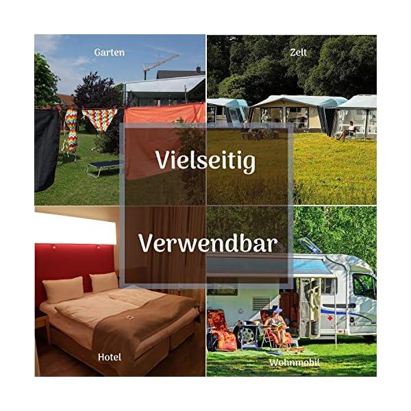 61WfMBbplVL Altera la Vita Camping-Wäscheleine mit Klammern 2 Stück in Aufbewahrungstasche, 180-360 cm, Ideal für Camping Outdoor…