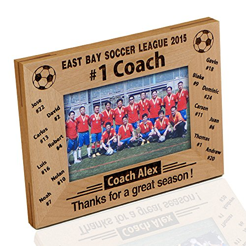(Personalized '#1 Soccer Coach' Photo Frame)