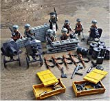 WW2 German Army ,Blitzkrieg Soldiers Soldiers and Guns Weapons ,Canon Machine Gun set of 8 Minifugurs - Military Building Block Toy