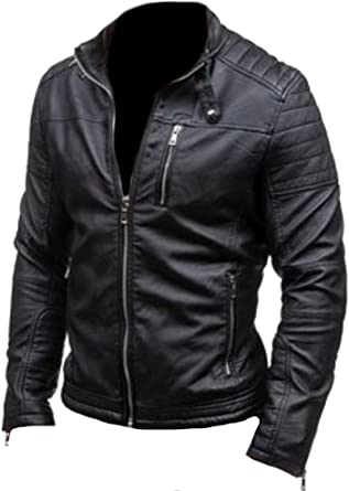 coolhides Mens Fashion Real Leather Jacket