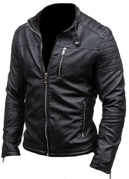 1dc723db67 Classyak da Uomo Fashion Rob di Alta qualità in Vera Pelle Giacca ...