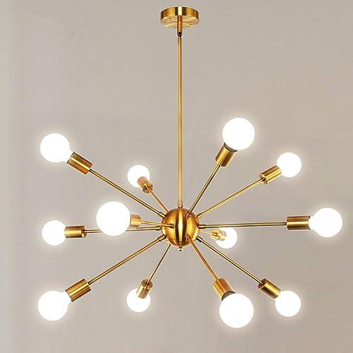 Orange Gold Modern Sputnik Chandeliers 12 Lighting bewamf