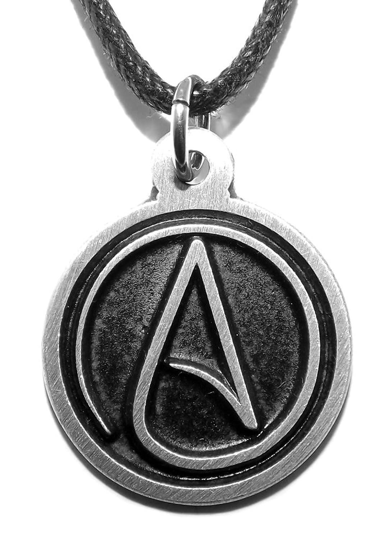 Black pewter atheist symbol pendant amazon jewellery aloadofball Choice Image
