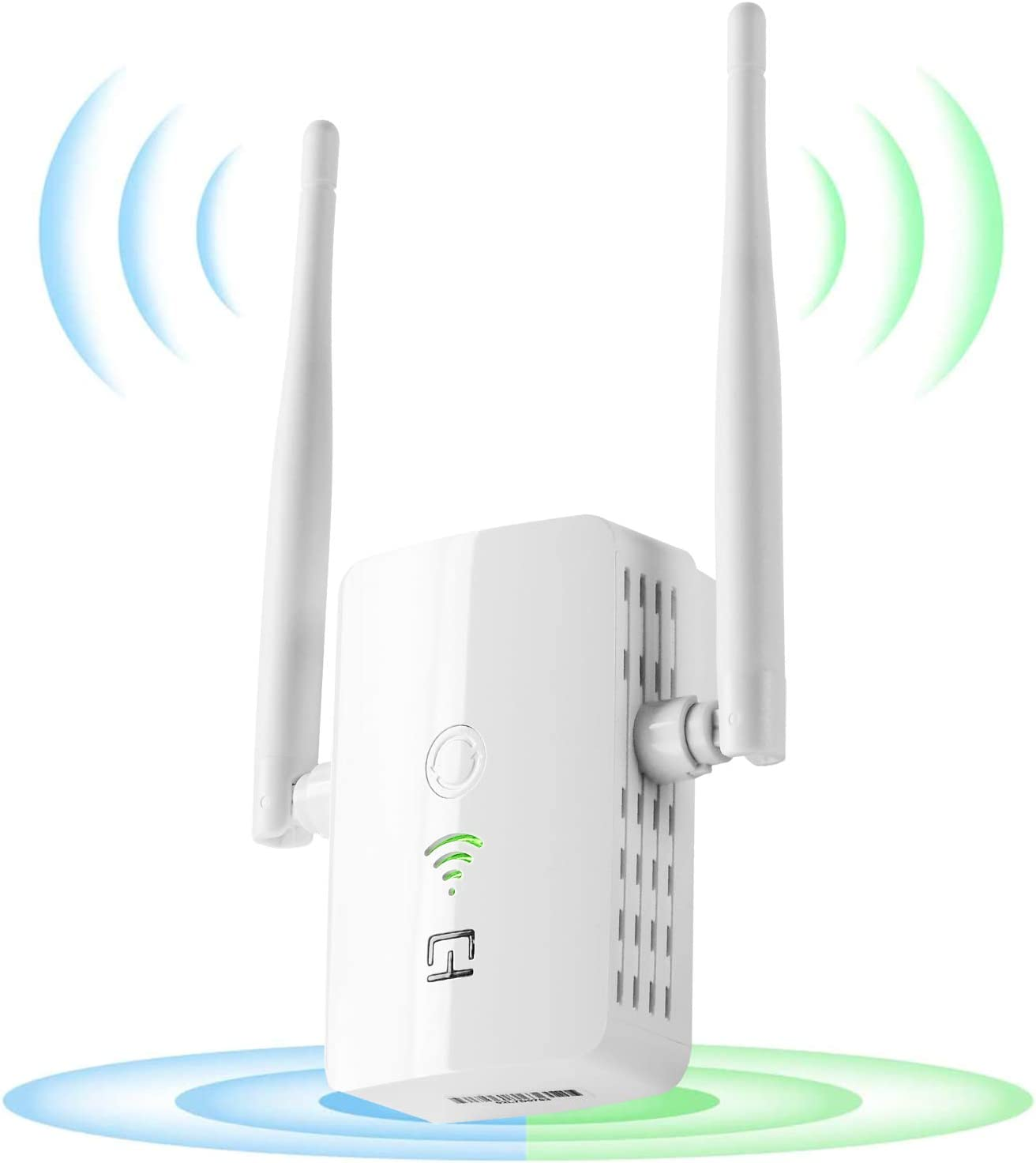 WiFi Range Extender 1200 Mbps, 2.4 & 5GHz Dual Band Network,Wireless Signal Booster & Repeater With WPS Button for WiFi Internet Connection, Easy Set Up,Coverage Up to 3000 Sq Ft & 32 Devices
