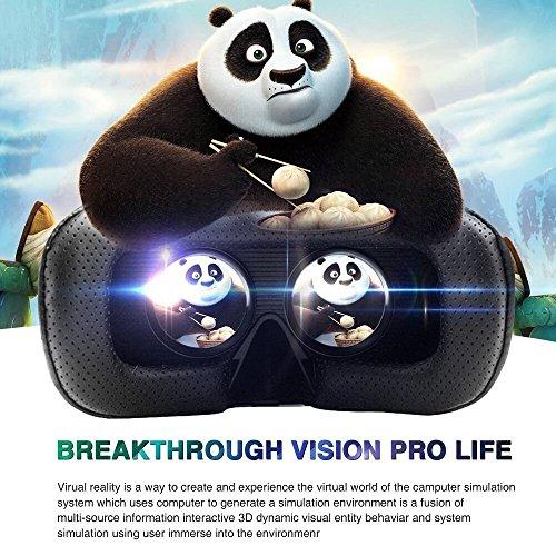 Vnice 3D VR Headset with Remote Controller for Smartphones - black