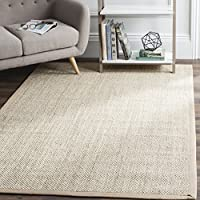 Safavieh Natural Fiber Collection NF143B Marble and Linen Sisal Area Rug (8 x 10)