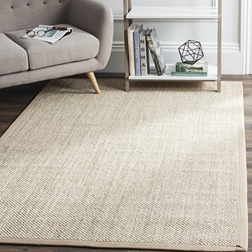 Safavieh Natural Fiber Collection NF143B Marble and Linen Sisal Area Rug (5' x 8') - Hand Woven 100% Jute