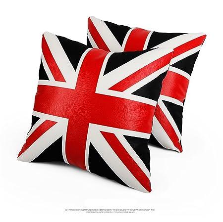 nunubee kissenbezug Reino Unido Palabra Bandera de piel ...