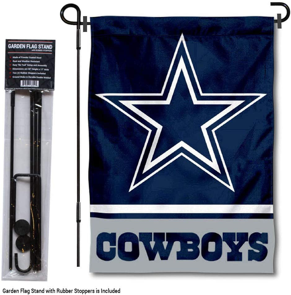 WinCraft Dallas Cowboys Garden Flag with Stand Holder