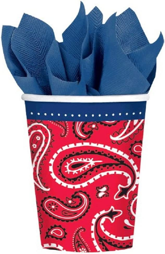 Amscan Bandana & Blue Jeans Western 9 Oz Paper Party Cup