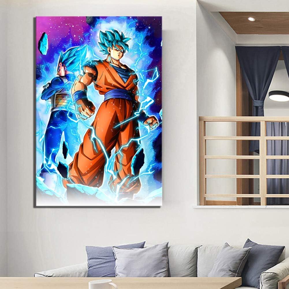 ZYUN Modern Wandkunst Wohnkultur 1 St/ück Segeltuch Malerei Gedruckt Anime Dragon Ball Poster Zum Wohnzimmer Modular Bilder Kunstwerk,A,40x50cmx1