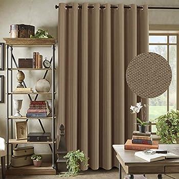 H.Versailtex Primitive Linen Look Room Darkening Thermal Insulated Living  Room / Patio Door Curtains