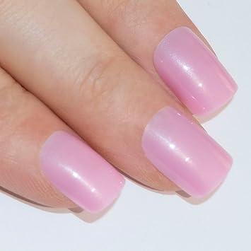 uas postizas manicura francesa puntas medianas rosa natural cobertura total de bling art ru