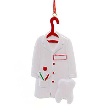 Amazon.com: Ornaments Dentist Shirt Outfit with Tooth Christmas Tree ...