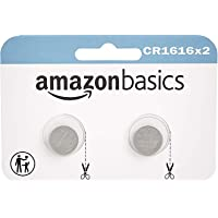 AmazonBasics CR1616 Lithium Coin Cell Battery - 2-Pack