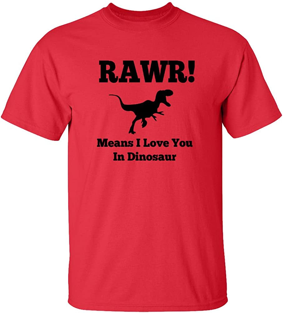 Mashed Clothing RAWR Means I Love You In Dinosaur Funny Dino Toddler Sweatshirt