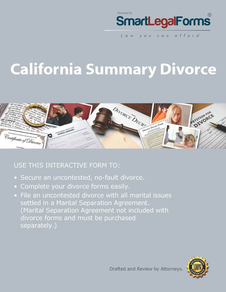 California Summary Divorce [Instant Access] by SmartLegalForms, Inc.